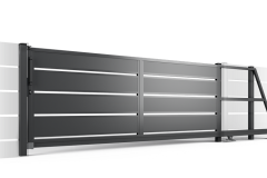 Ogrodzenie palisadowe serii PP002 (P305) brama samonośna