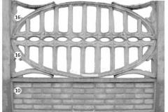 ogrodzenie betonowe BORDER 16-16-10_122