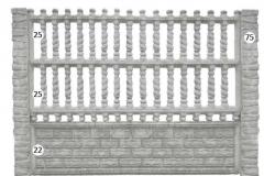 ogrodzenie betonowe BORDER 25-25-22-75_128