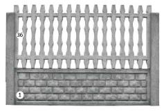 ogrodzenie betonowe BORDER 36-1_102