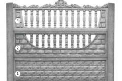 ogrodzenie betonowe BORDER 4-2-1_134