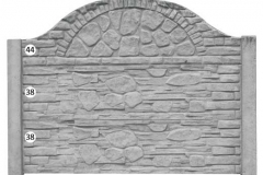ogrodzenie betonowe BORDER 44-38-38_108