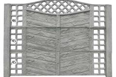 ogrodzenie betonowe BORDER 46-45-45_100