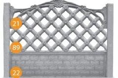 ogrodzenie betonowe BORDER 35-35-3_382