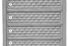 ogrodzenie betonowe BORDER 1-1-1-1_205
