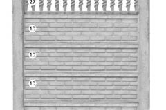 ogrodzenie betonowe BORDER 10-10-10-27_90