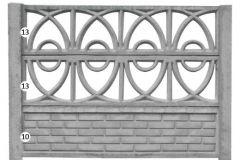 ogrodzenie betonowe BORDER 13-13-10_119