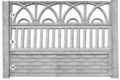 ogrodzenie betonowe BORDER 13-8-10_118