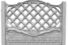 ogrodzenie betonowe BORDER 21-21-20_120