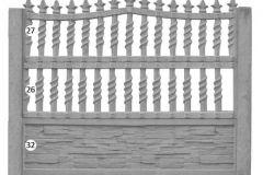 ogrodzenie betonowe BORDER 27-26-32_133