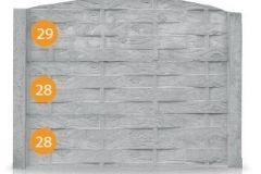 ogrodzenie betonowe BORDER 29-28-28_385