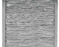 ogrodzenie betonowe BORDER 31-30-30-30_207_k