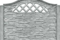 ogrodzenie betonowe BORDER 34-30-30_106