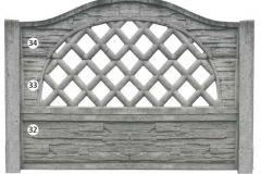 ogrodzenie betonowe BORDER 34-33-32_105