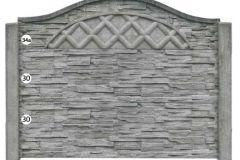 ogrodzenie betonowe BORDER 34a-30-30_210