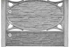 ogrodzenie betonowe BORDER 35-35-32_104