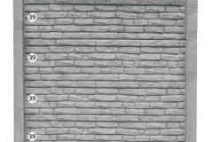 ogrodzenie betonowe BORDER 39-39-39-39_206