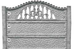 ogrodzenie betonowe BORDER 41-40-40_99