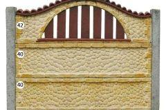 ogrodzenie betonowe BORDER 42-40-40_98