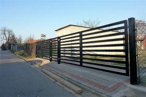 ogrodzenie palisadowe brama BORDER