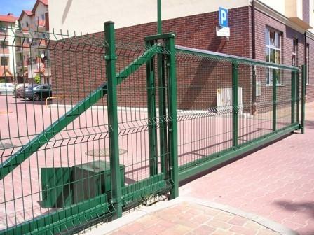 Brama przesuwna wypełniona panelem 3D Border
