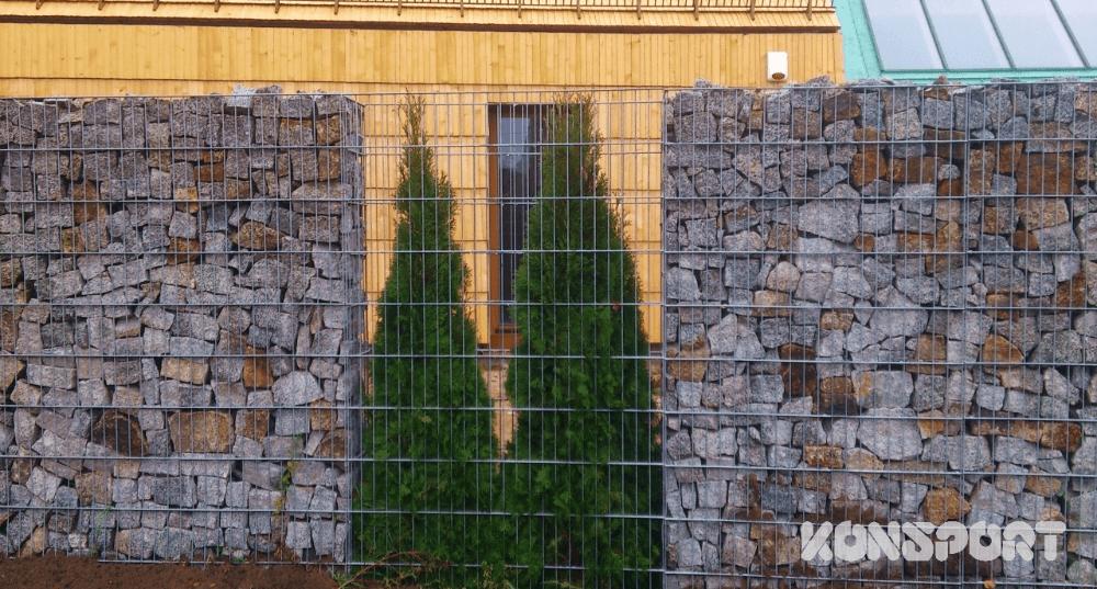 ogrodzenie gabionowe BORDER gab1