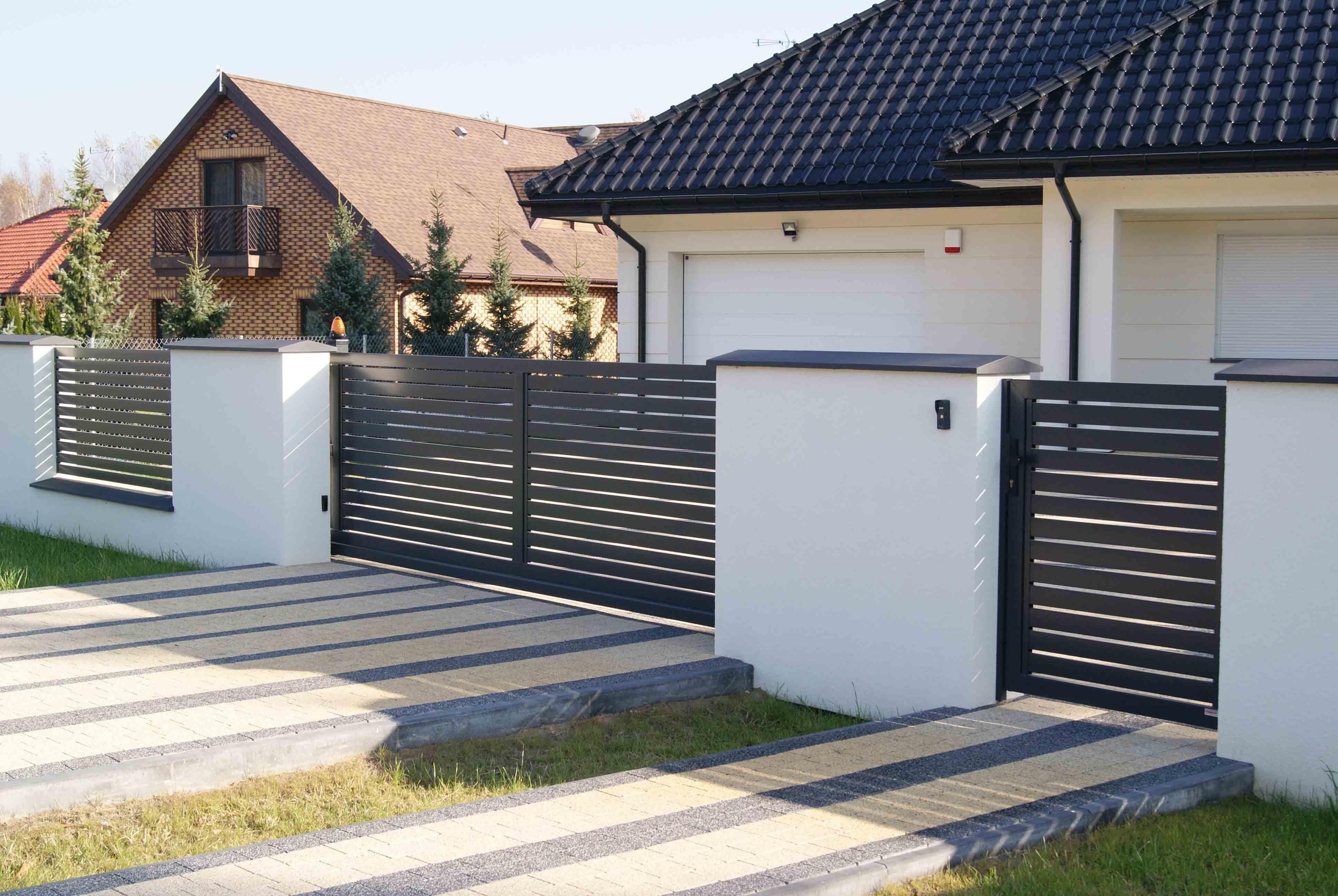 ogrodzenie palisadowe PP002(P82) BORDER KONSPORT
