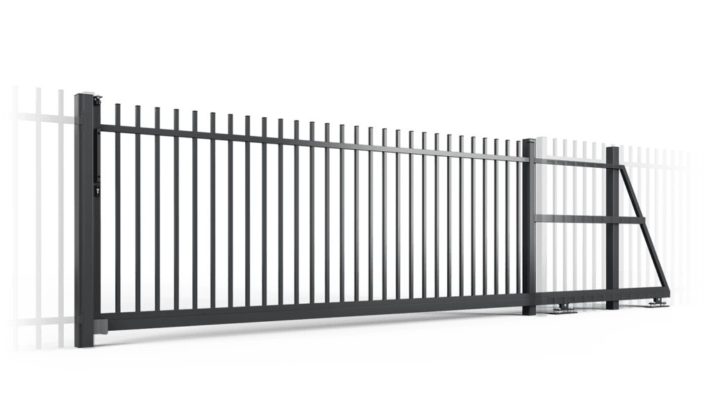 ogrodzenie palisadowe brama samonośna PP001 BORDER KONSPORT