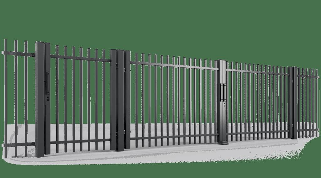 ogrodzenie palisadowe brama uchylna PP001 BORDER KONSPORT