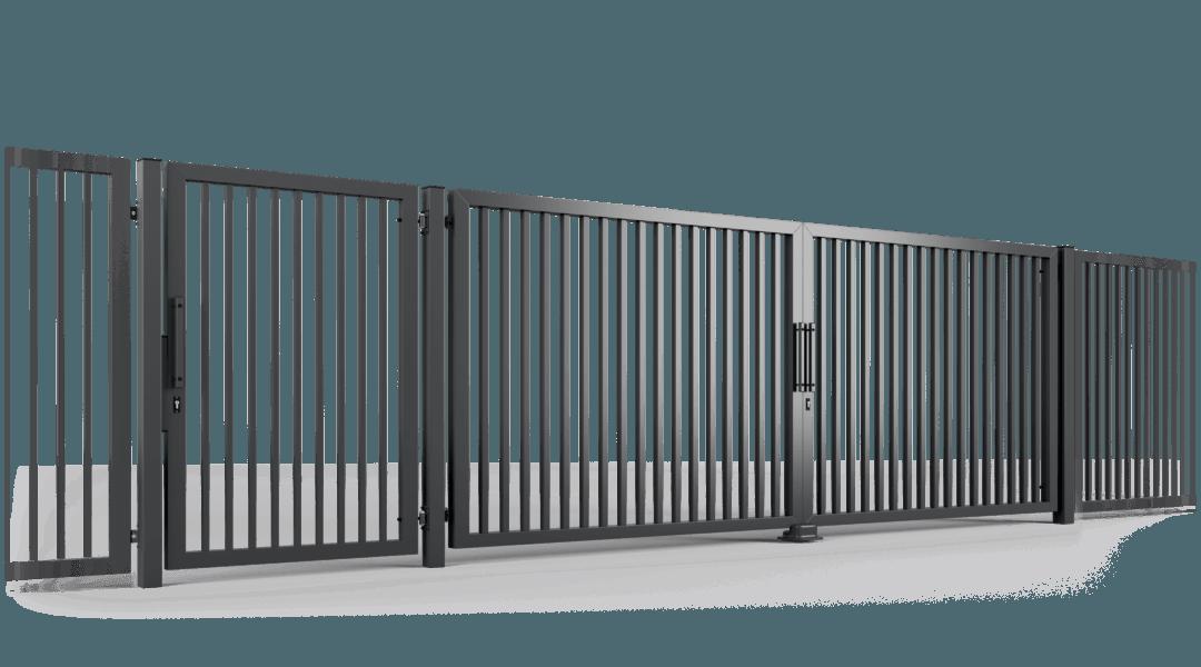 ogrodzenie palisadowe brama uchylna P002 BORDER KONSPORT