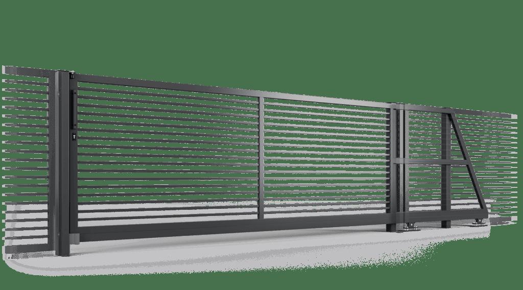 ogrodzenie palisadowe brama samonośna P002(P) BORDER KONSPORT