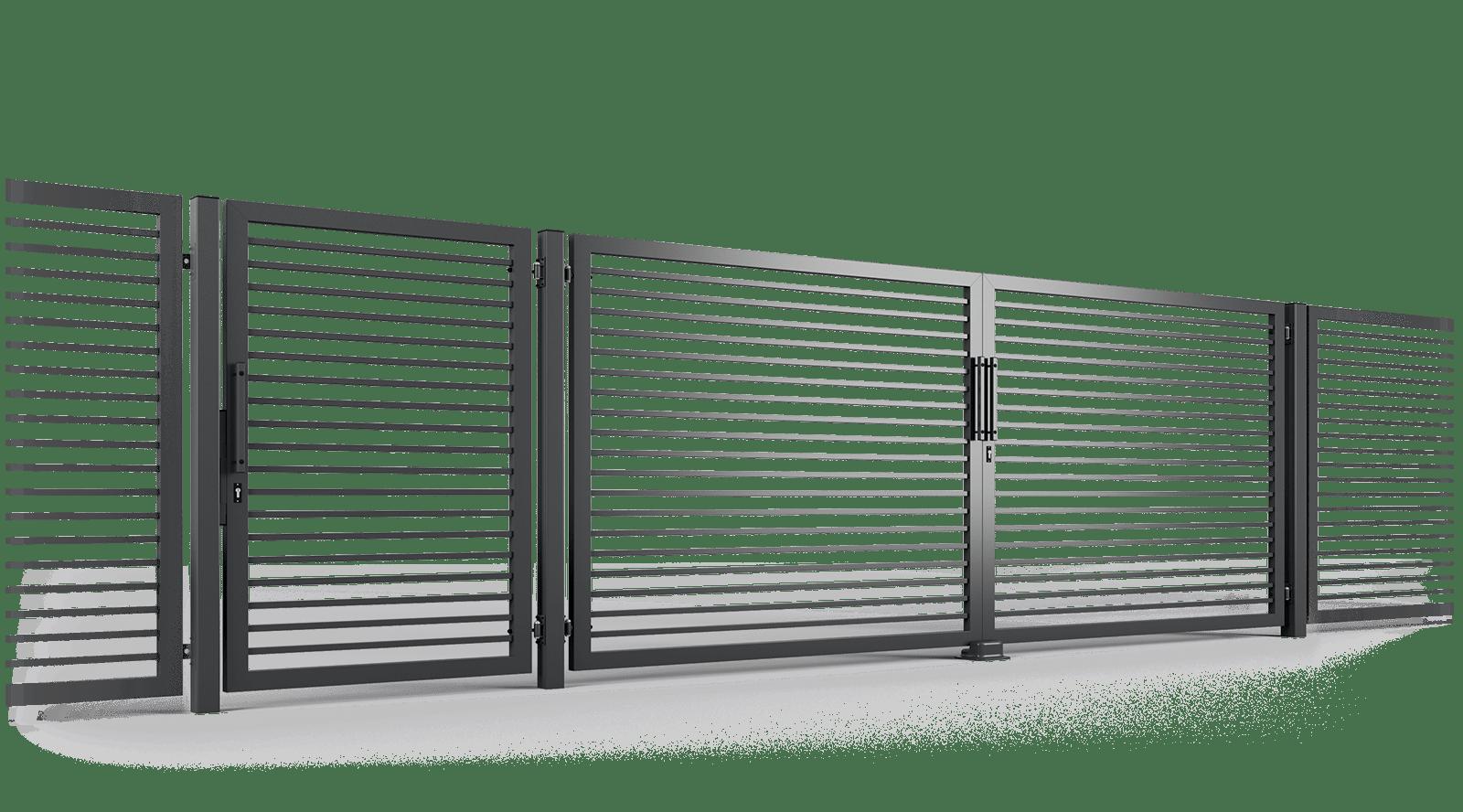 ogrodzenie palisadowe brama uchylna P002(P) BORDER KONSPORT