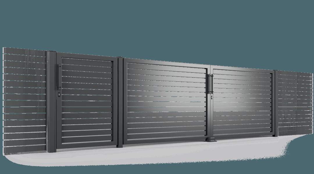 ogrodzenie palisadowe brama uchylna P002(P82) BORDER KONSPORT