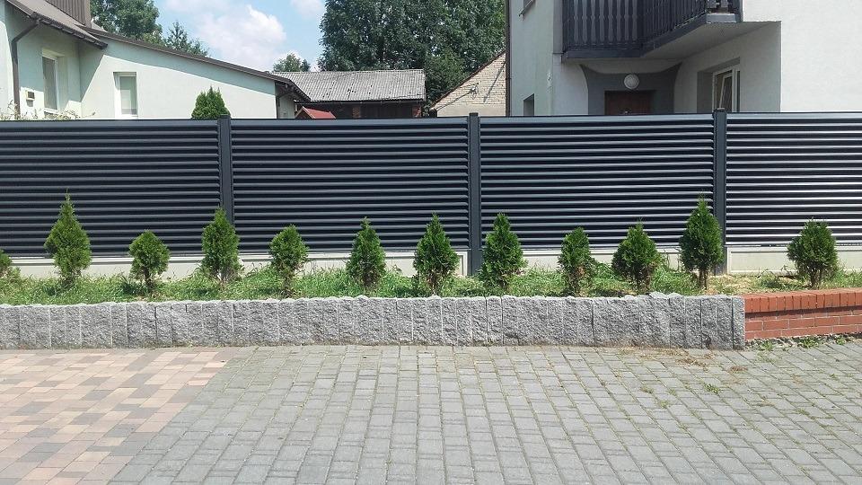 ogrodzenie palisadowe żaluzyjne BORDER 2