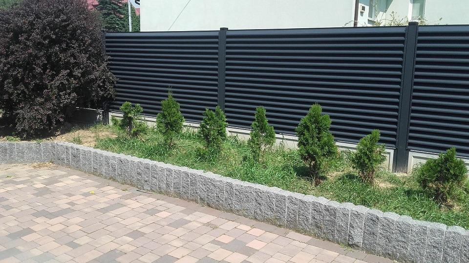 ogrodzenie palisadowe żaluzyjne BORDER 3