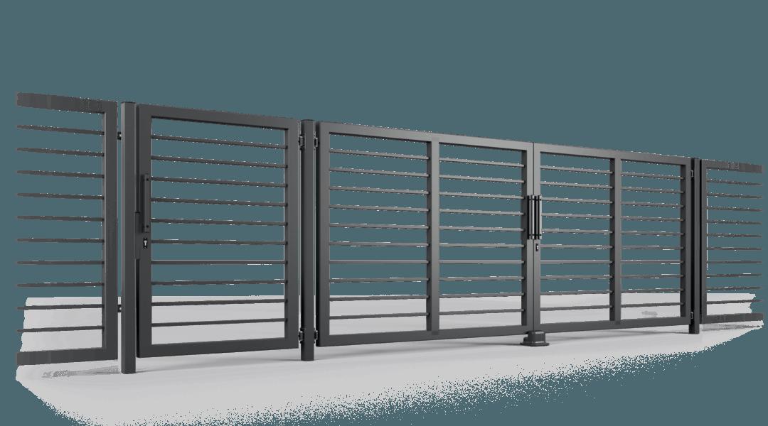 ogrodzenie palisadowe brama uchylna P002(P22) BORDER KONSPORT