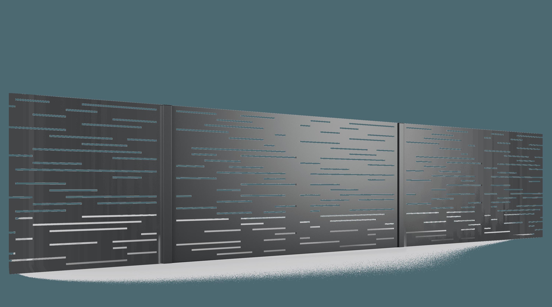 PB001 przęsło ogrodzenie palisadowe wycinane laserowo BORDER KONSPORT