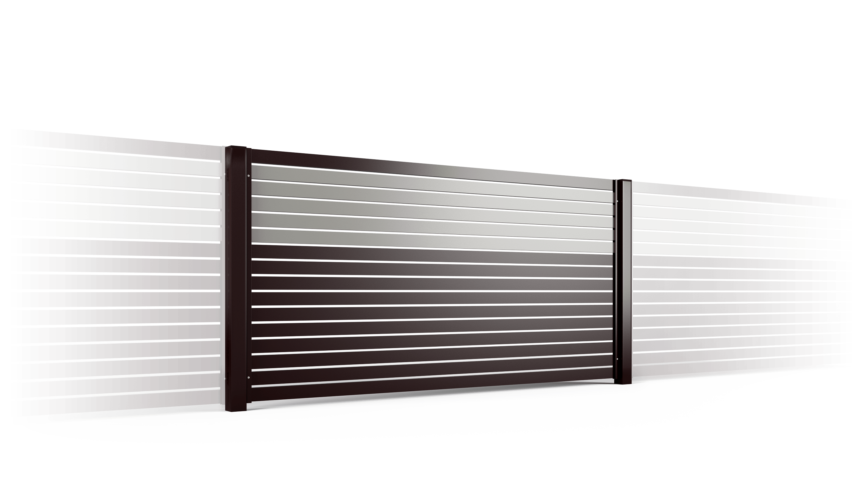 PP002P82 colore I przeslo ogrodzenie palisadowe stylizowane BORDER KONSPORT