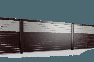 PP002P82 colore I przęsło ogrodzenie palisadowe stylizowane BORDER KONSPORT