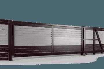 PP002P82 colore II brama samonosna ogrodzenie palisadowe stylizowane BORDER KONSPORT
