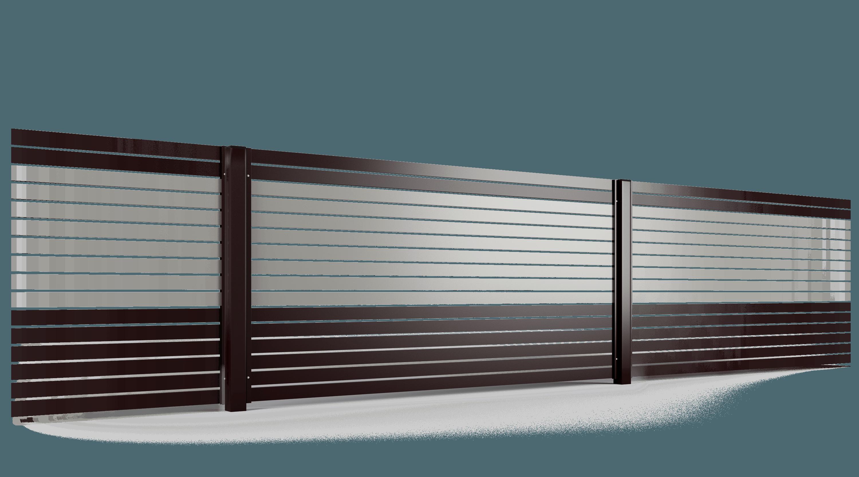 PP002P82 colore II przeslo ogrodzenie palisadowe stylizowane BORDER KONSPORT