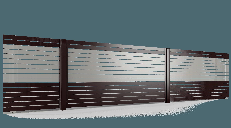 PP002P82 colore II przęsło ogrodzenie palisadowe stylizowane BORDER KONSPORT