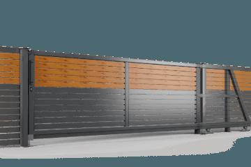 brama samonosna ogrodzenie palisadowe stylizowane PP 002 (P82) PINO I BORDER KONSPORT
