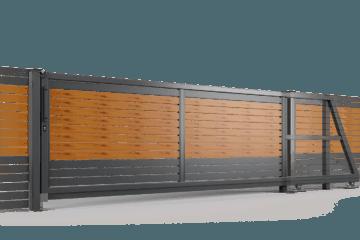 brama samonosna ogrodzenie palisadowe stylizowane PP 002 (P82) PINO II BORDER KONSPORT