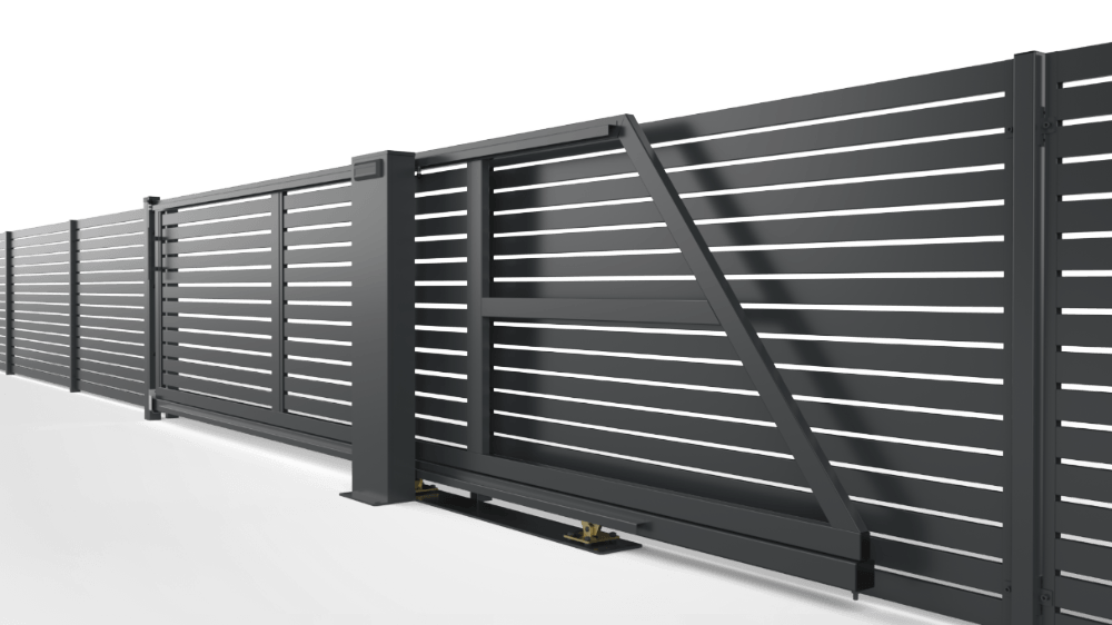brama samonosna z automatyka border konsport