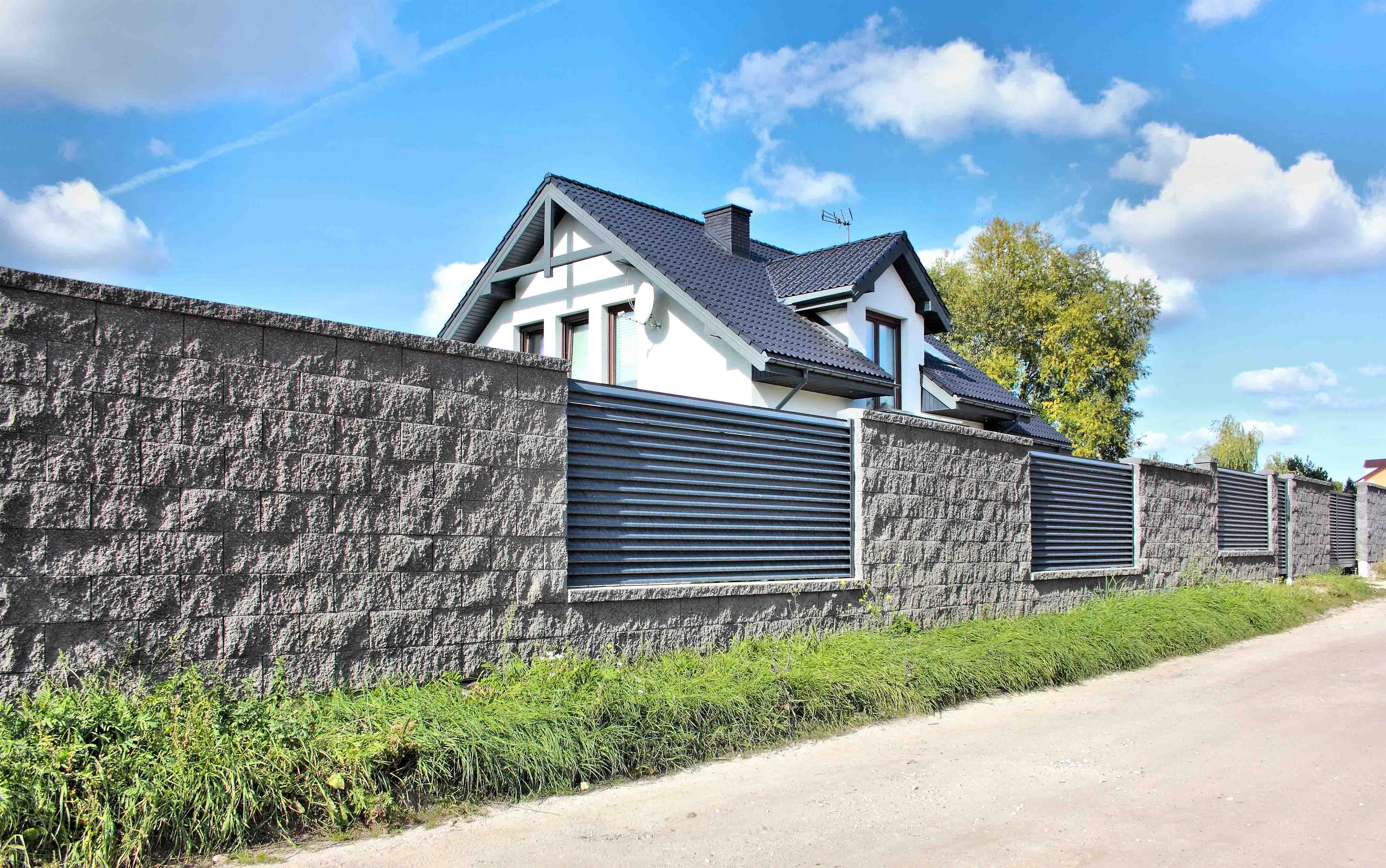 ogrodzenie palisadowe żaluzyjne PS 004 BORDER KONSPORT