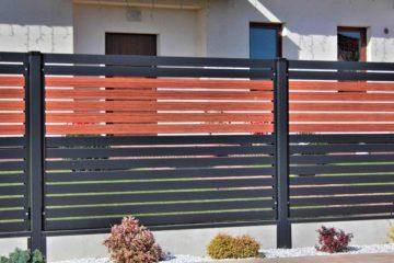 ogrodzenie palisadowe stylizowane PP 002 (P82) NOCE I BORDER KONSPORT