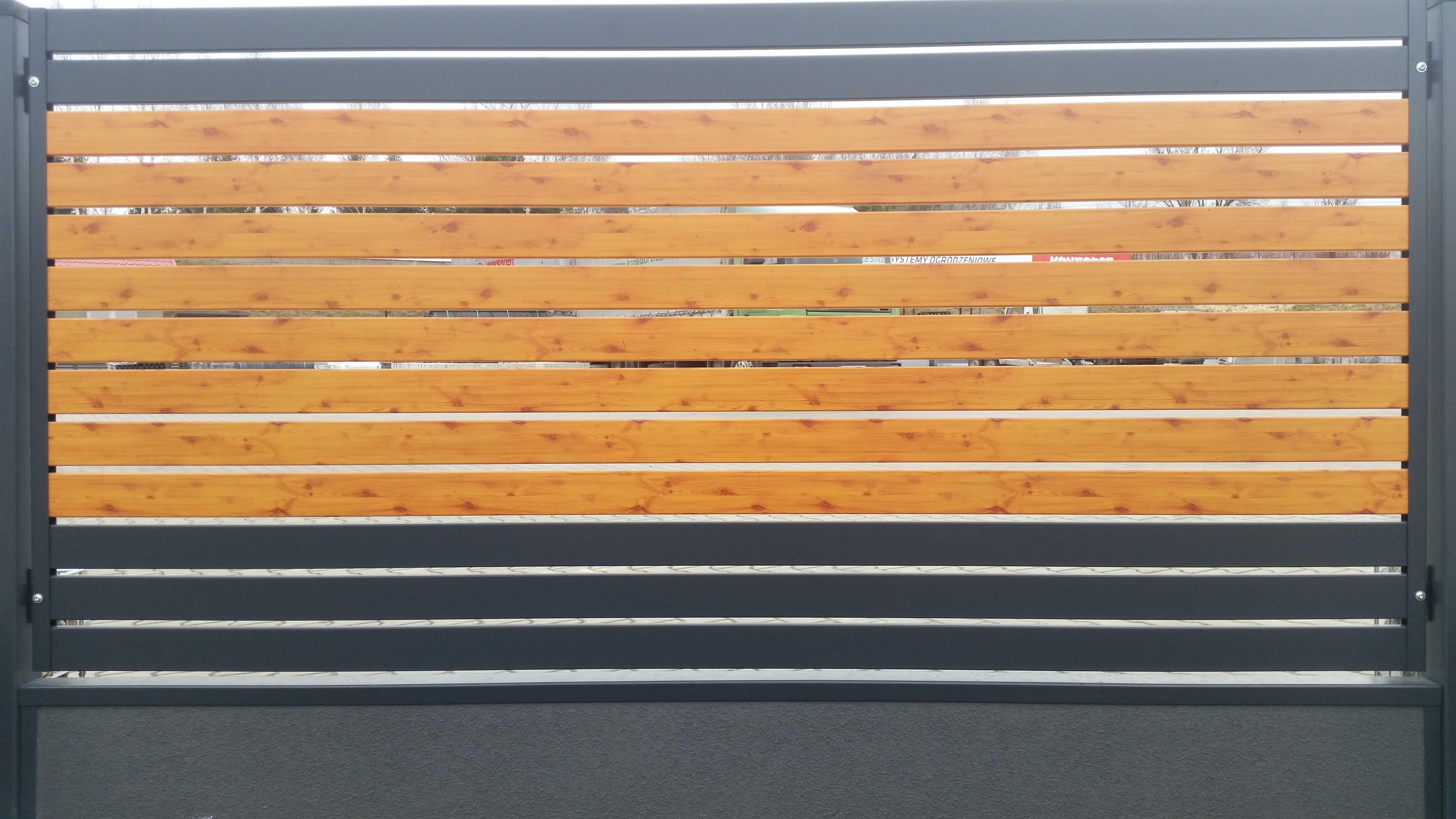 ogrodzenie palisadowe stylizowane PP 002 (P82) PINO I BORDER KONSPORT