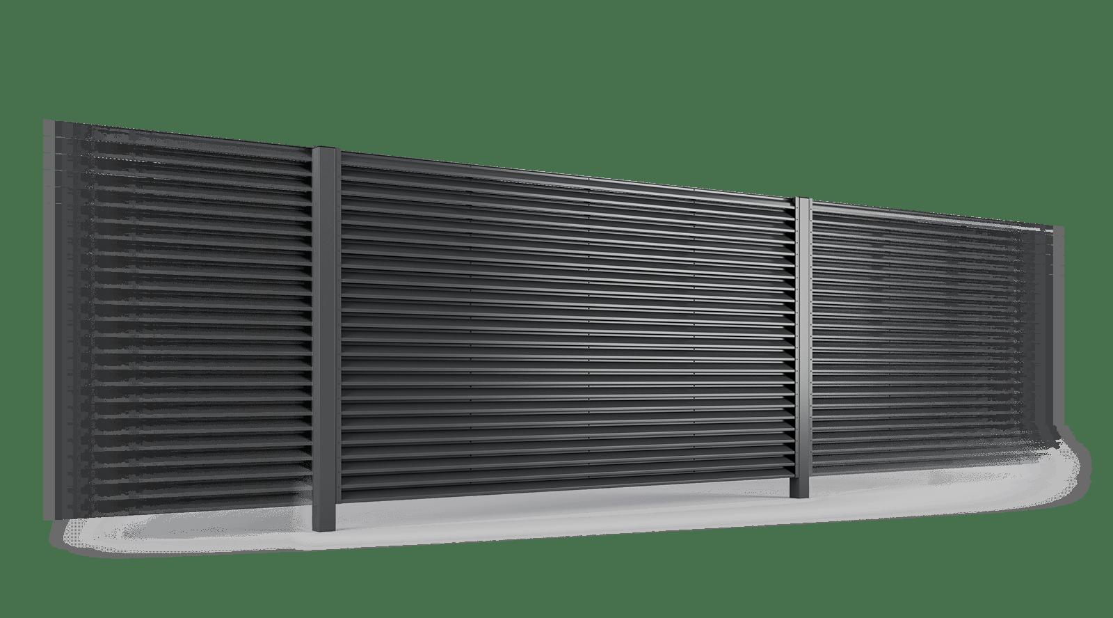 przęsło ogrodzenie palisadowe żaluzyjne PS 004 BORDER KONSPORT
