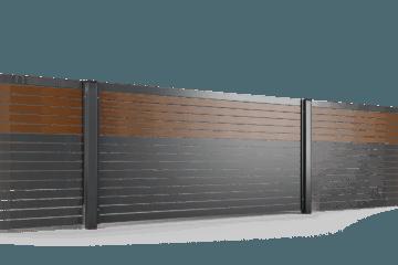 przeslo ogrodzenie palisadowe stylizowane PP 002 (P82) NOCE I BORDER KONSPORT